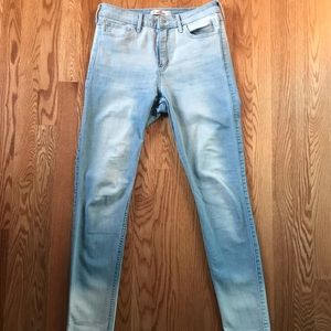 light wash with a fade Hollister denim jeans